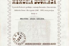Povelja Memoria Bosniaca