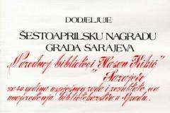 Šestoaprilska nagrada